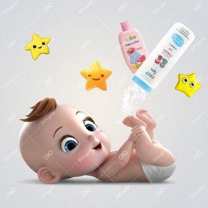 پودر بچه و لوسیون بدن کودک