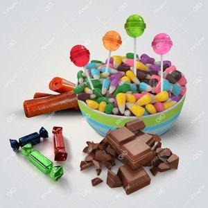 شکلات ، آبنبات و لواشک