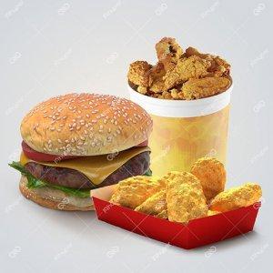 همبرگر، ناگت و شنیسل