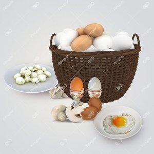 تخم مرغ و قارچ