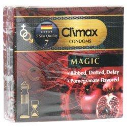 کاندوم خاردار با مواد روان کننده و اسانس انار کلایمکس 3 عدد