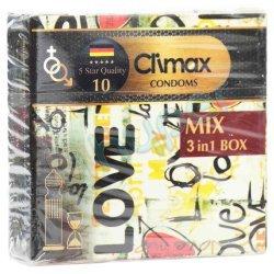 کاندوم ساده با مواد روان کننده دارای 3 طرح کلایمکس 3 عدد