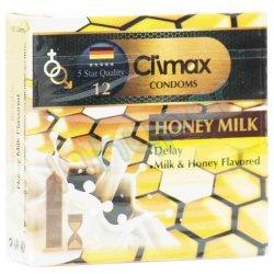 کاندوم ساده با مواد روان کننده و اسانس شیر کلایمکس 3 عدد