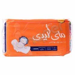 نوار بهداشتی بالدار بزرگ مشبک نارنجی مای لیدی 10 عدد