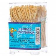 خلال دندان بامبو toothpick