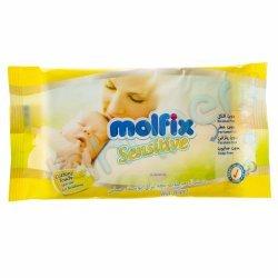 دستمال مرطوب بچه برای پوست حساس معطر مولفیکس 20 عدد