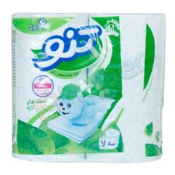 دستمال توالت معطر سبز 3 لایه تنو 4 رول