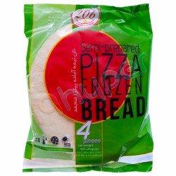 نان نیمه آماده پیتزا منجمد 206 وزن 450 گرم
