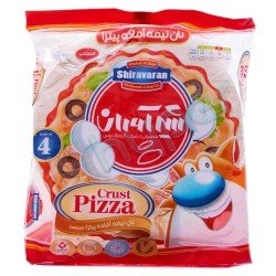نان نیمه آماده پیتزا منجمد شیرآوران 460 گرم