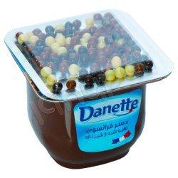 دسر شکلاتی همراه با دراژه های مغزدار دنت 100 گرم