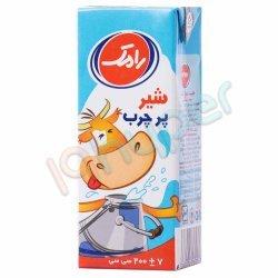 شیر پر چرب 3 درصد چربی رامک 200 سی سی