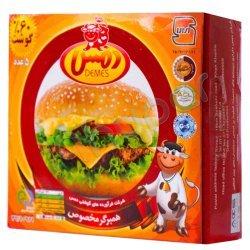 همبرگر مخصوص 60 درصد گوشت دمس 5 عدد