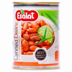 خوراک لوبیا در سس گوجه فرنگی اصالت 380 گرم