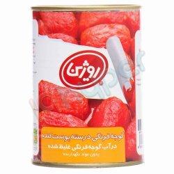 کنسرو گوجه فرنگی درسته پوست کنده روژین 380 گرم