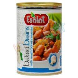 کنسرو خوراک لوبیا چیتی با قارچ در سس گوجه فرنگی اصالت 380 گرم