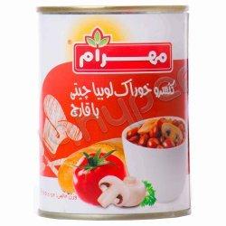 کنسرو خوراک لوبیا چیتی با قارچ مهرام 400 گرم