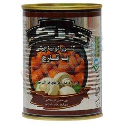 کنسرو لوبیا چیتی با قارچ تبرک 380 گرم