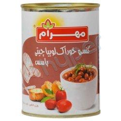 کنسرو خوراک لوبیا چیتی با سس مهرام 400 گرم