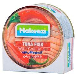کنسرو ماهی تون با فلفل در روغن مکنزی 180 گرم