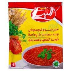 سوپ جو و گوجه فرنگی الیت 65 گرم
