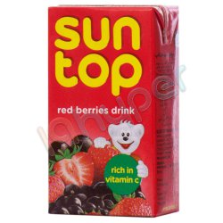 نوشیدنی میوه های قرمز سان تاپ 125 میلی لیتر