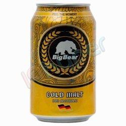 نوشیدنی مالت ساده طلایی بیگ بیر 330 میلی لیتر