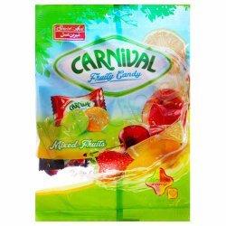 آبنبات میوه ای مغزدار کارنیوال شیرین عسل 125 گرم