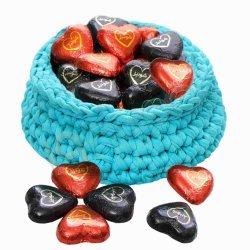 شکلات قلب قرمز تلخ 78 درصد شونیز فله ای