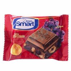 شکلات شیری با مغزی فندق و کشمش دریم اسمارت شیرین عسل 50 گرم